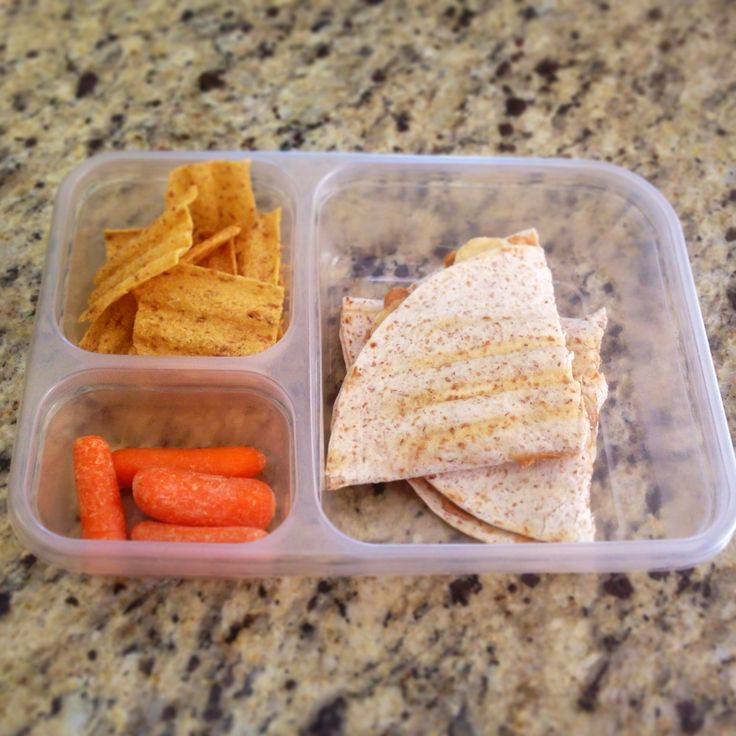 Vegan School Lunch- Peanut butter and banana quesadilla with original ...