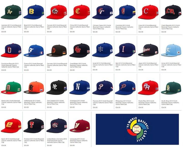2013 world baseball classic hats wbc