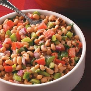Black-eyed Pea Salsa - I added sweet corn and avocado