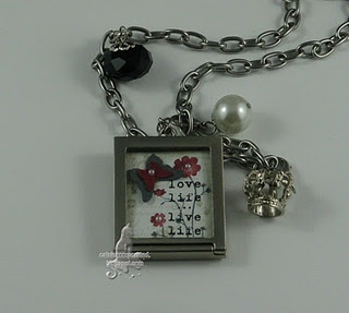 double-sided pendant stamped image
