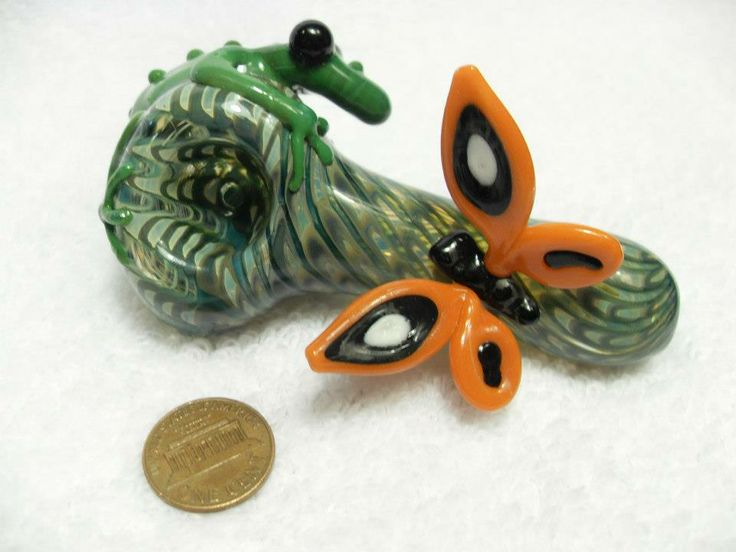 Lizard and butterfly glass pipe natural selection pinterest