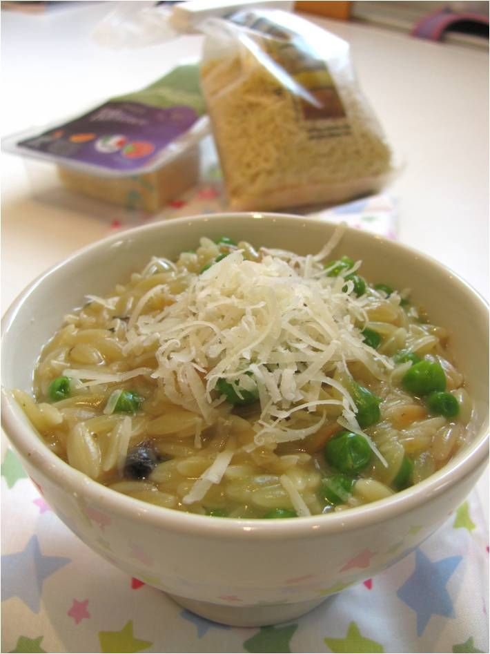 ... instead of rice. Have flavoured it with Saffron, Peas and Mushroom