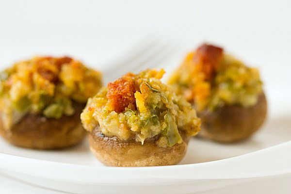 ... traditional stuffed mushroom filling. Perfect appetizer for that