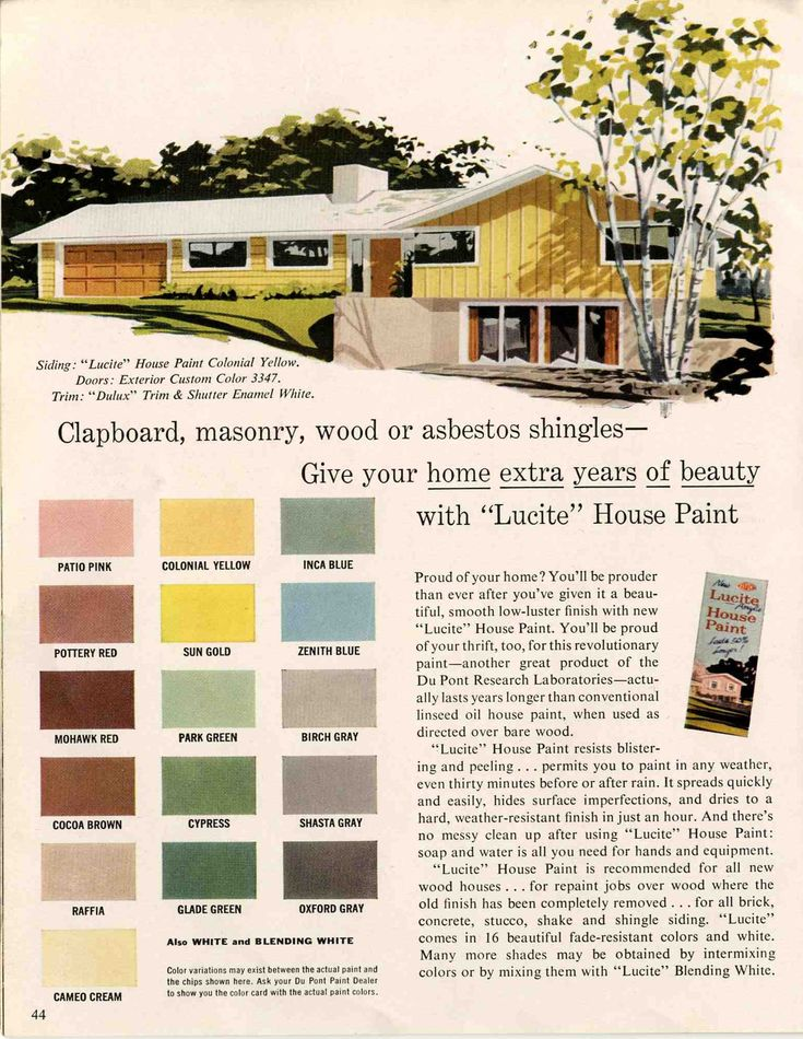Color Palette From An Actual 1950 39 S Ad For The Home