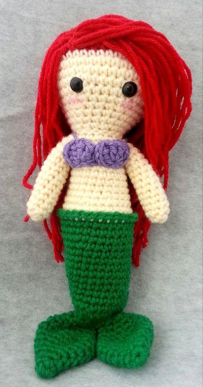 Amigurumi Crochet Mermaid : Pin by Sara Kalucza on Knit and Crochet Pinterest