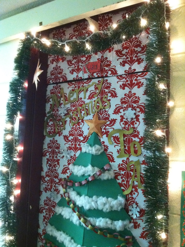 Fun door decor christmas pinterest for Fun decorations for christmas