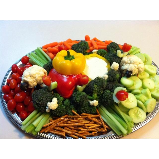 Vegetable tray presentation ideas