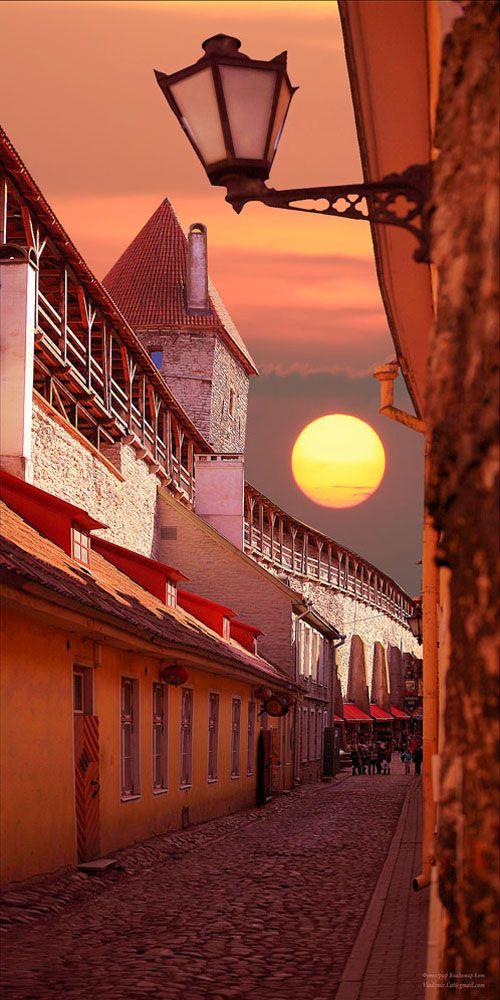 Tallinn, Estonia...beautiful sunset!