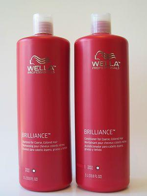 wella professionals brilliance shampoo conditioner liter duo. Black Bedroom Furniture Sets. Home Design Ideas