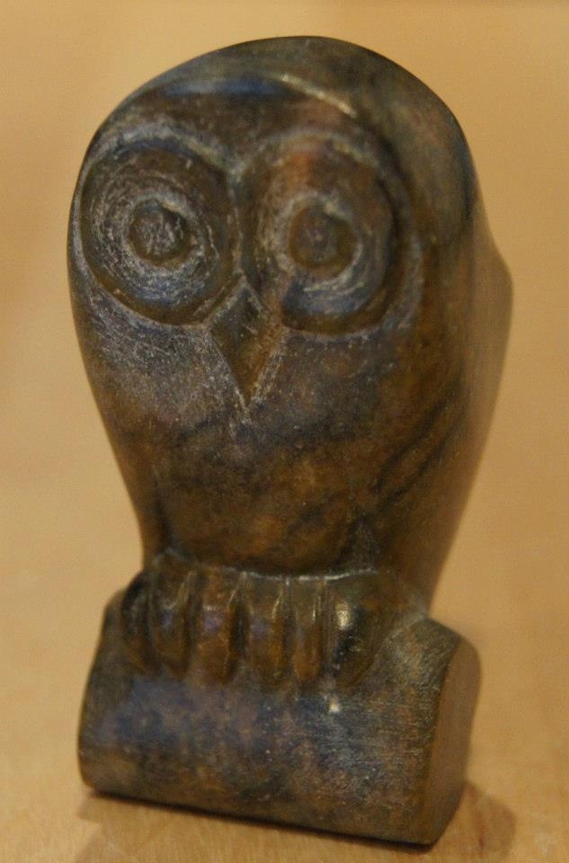 Soapstone carved owl stone carving pinterest