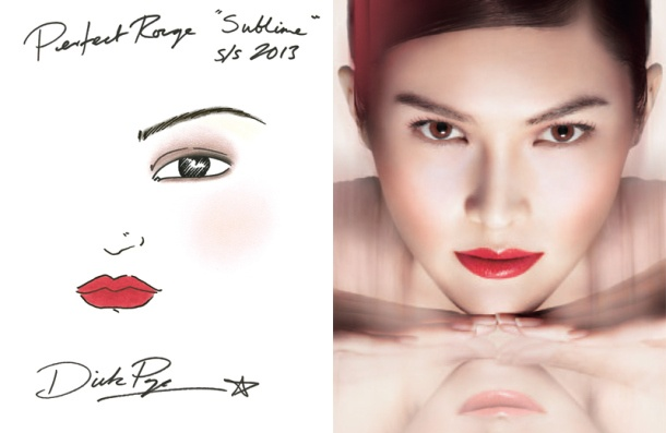 new Shiseido Perfect Rouge Look - Dick Page - the blush, lip and eye colours are perfect. Products used: Luminizing Satin Eye Color Beach Grass, Shimmering Eye Color Caviar, Luminizing Satin Face Color Medusa and Starfish, new Perfect Rouge Sublime