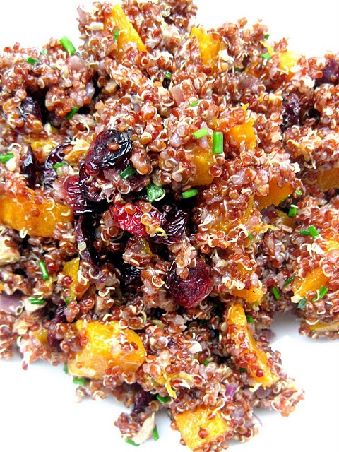 Red Quinoa with Roasted Butternut Squash, Cranberries, and Pecans - I ...