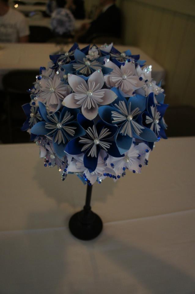 Paper flower centerpiece one day pinterest