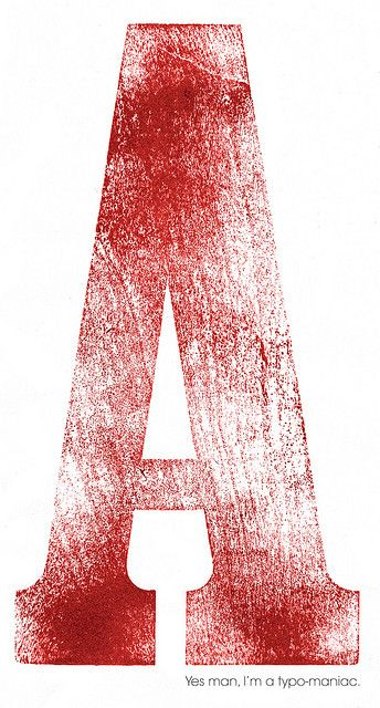 woodtype 'A' by: Luca Barcellona - Calligraphy & Lettering Arts
