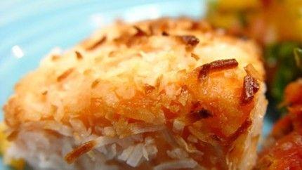 Coconut Crusted Mahi Mahi Recipe | Things I want to Eat | Pinterest