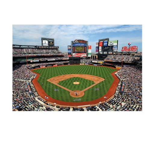Home of the new york mets citi field giant mural for Baseball field mural