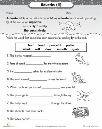 Adverb clause worksheet for grade 5