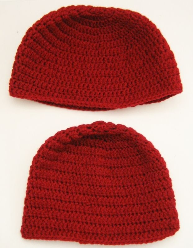Beginner Crochet Hat Tutorial : Double Crochet Beanie Tutorial For Beginners