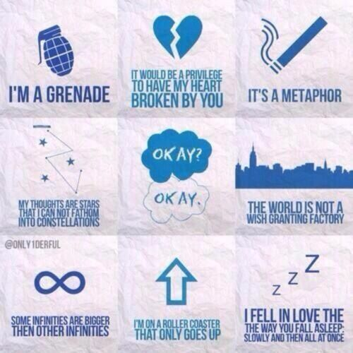 The Fault In Our Stars quotes!  Inspiration  Pinterest