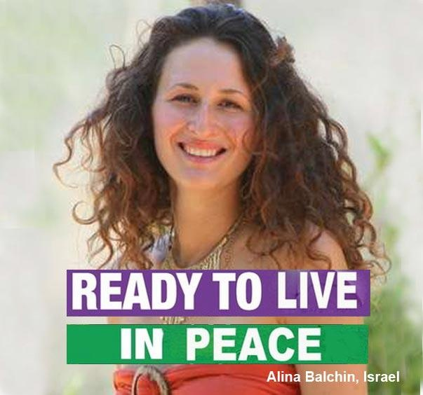 Ready to live in Peace. Alina Blachin, Israel. « We are millions of people who believe in the human race, believe in a bright future for this world, believe in life. We are millions of people who believe in the source of goodness in every human being's heart.    We believe that it is time to build a new world, based on friendship and love. We are ready to create this new world.  We are ready to live in peace! »
