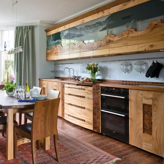 Live edge cabinets surfaces pinterest for Live kitchen design