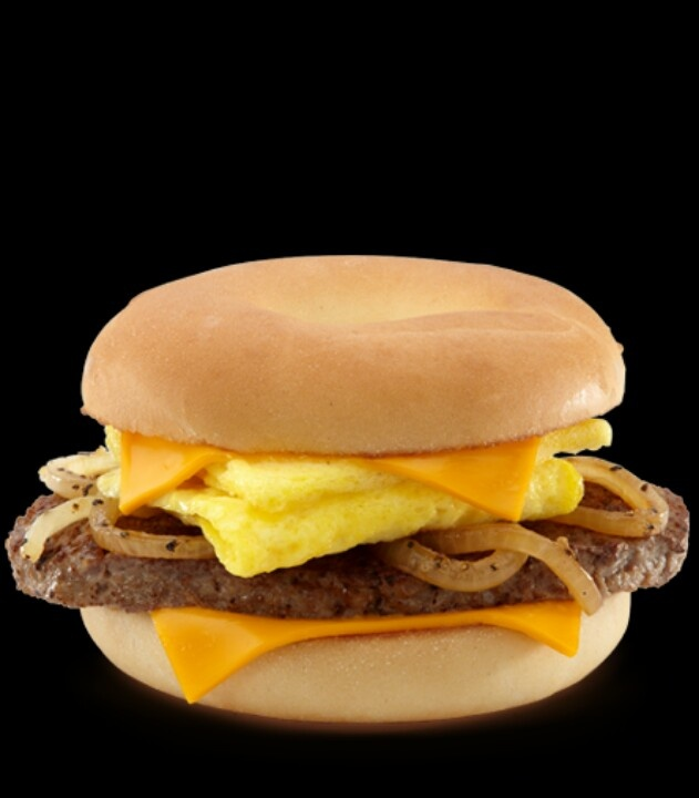 mcdonalds steak egg and cheese bagel