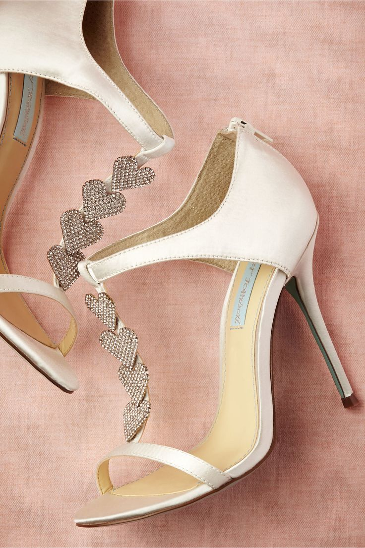 "Dancing Heart Shoes from BHLDN (Blue by Betsey Johnson). A light blue sole is your ""something blue!"""