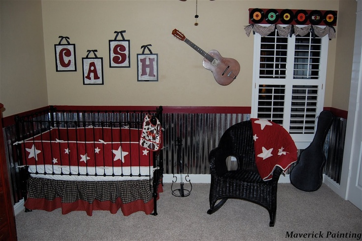 Rock n roll nursery painting ideas baby bedroom ideas for Rock n roll baby crib set