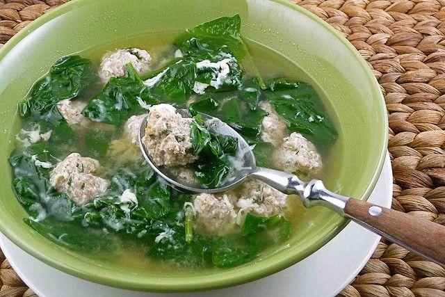 Italian Wedding Soup (with Turkey & Italian Sausage Meatballs ...