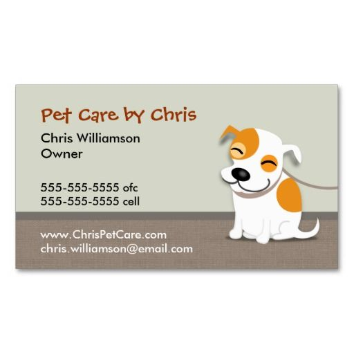 Pet care business card animal pet care business card for Pet business cards