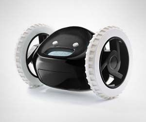 Mobile Alarm Clock: If you have trouble waking up in the morning, this mobile alarm clock with wheels is the perfect solution. When the alarm goes off, the mobile alarm clock springs into action, driving into random spots that you aren't used to a clock being in and forcing you to wake up.
