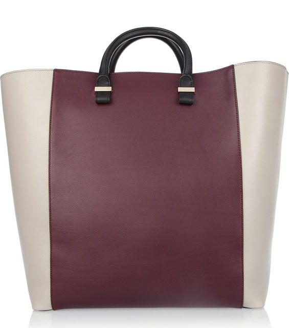 Victoria Beckham Tri Tone Leather Tote