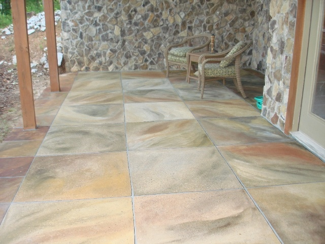 Pin by lisa simon on i think i need a patio pinterest for Acid wash concrete patio