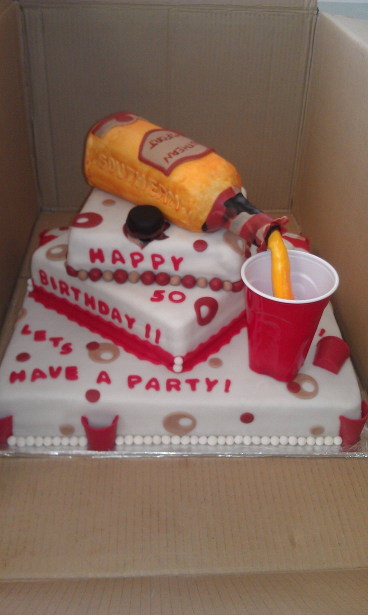 Southern comfort solo cup bday cake | solo cup | Pinterest