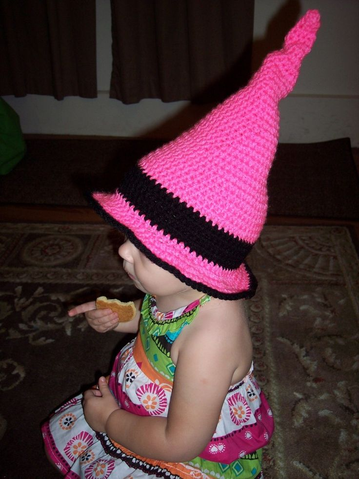 Free Crochet Baby Witch Hat Pattern : Crochet Toddler Witch Hat crochet hat Pinterest