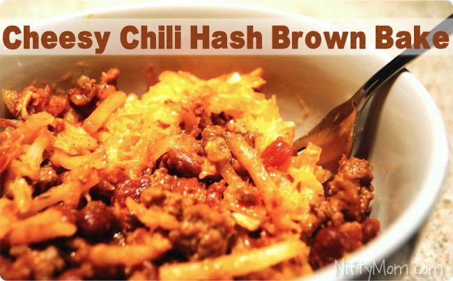 Cheesy Chili Hash Brown Bake - 5 Ingredients, under 10 dollars to make ...