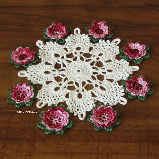 3d Flower Home Crochet Pinterest