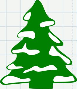 Download Free Christmas Tree with Snow SVG File | SVG Files | Pinterest