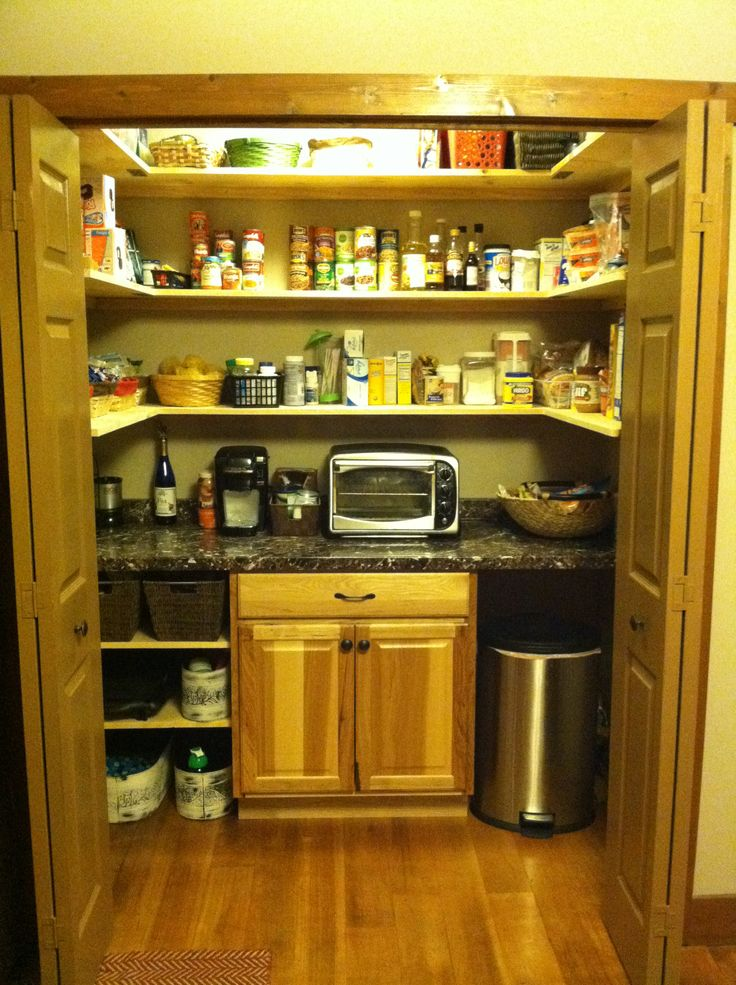 Converted Laundry Closet To Pantry Home Pinterest
