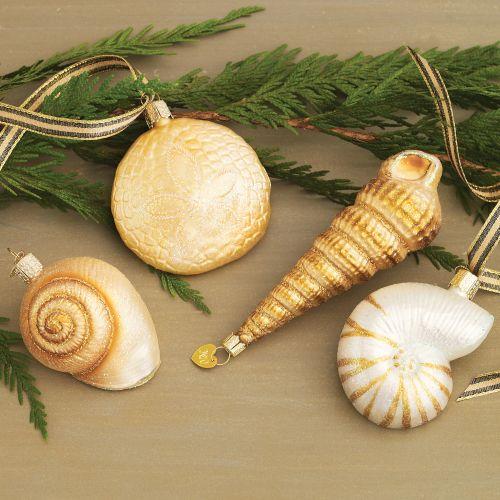 Seashell christmas ornaments crafts car interior design for Seashell ornament ideas