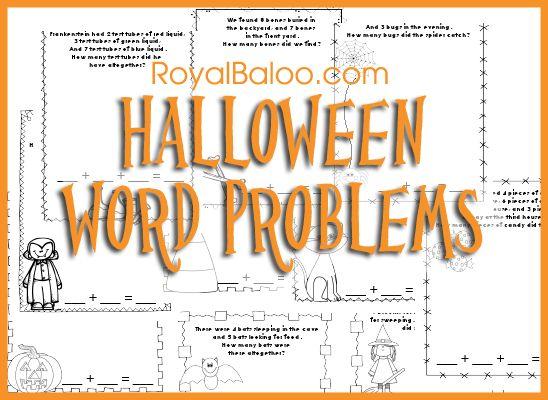 halloween story problems 2nd grade