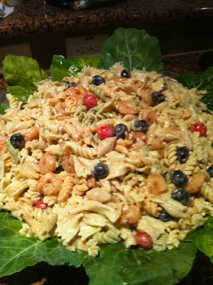 Shrimp Pasta Salad Recipe — Dishmaps