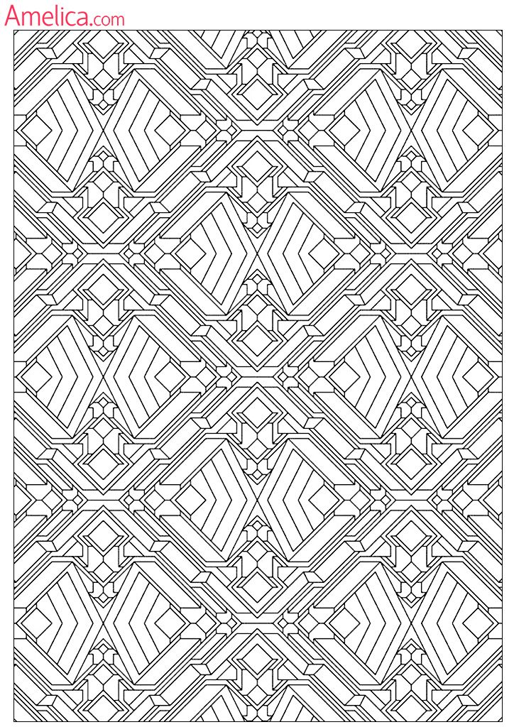 Чувашский орнамент для раскраски