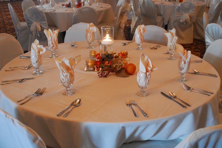 Fall centerpiece with floating candle weddings pinterest