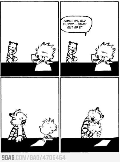 The last ever Calvin & Hobbes Comic.. I got somethin´ 4 that Calvin Hobbes, Warm Thoughts, Quote, Random, Funny, Hob...