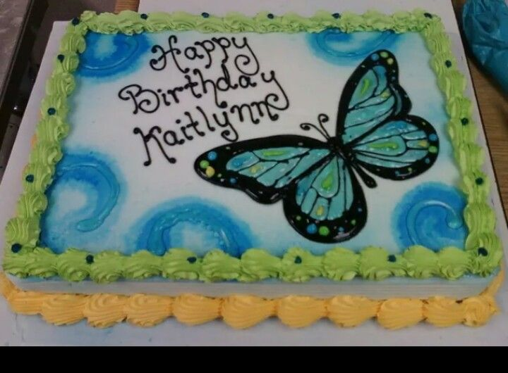 Dairy Queen Sheet Cake Designs : Dairy Queen Sheet cake butterfly For my tiny dancer ...