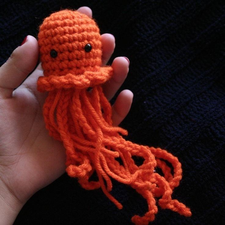 Peelable Orange Amigurumi : Orange Jellyfish Amigurumi Handmade Toys Pinterest