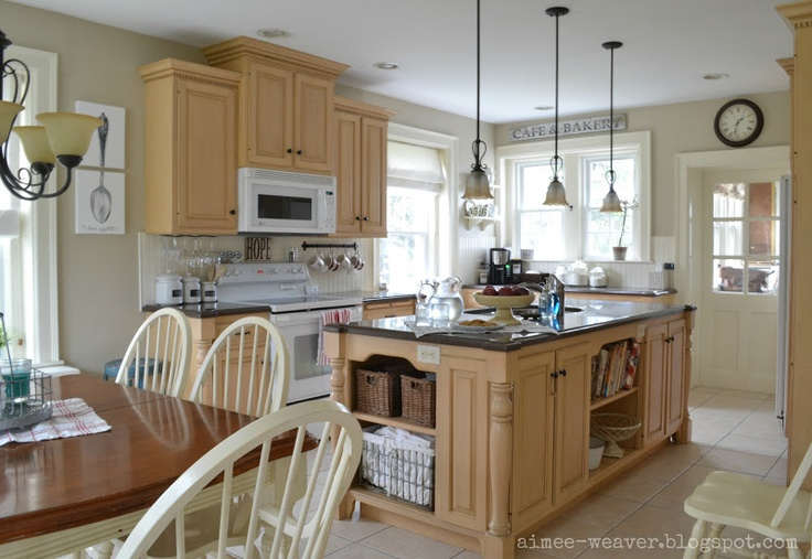 light kitchen with maple cabinets  For the Home  Pinterest