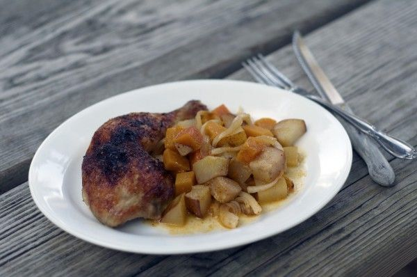 Roasted Chicken with Butternut Squash and Pears. (I might sub. out the ...