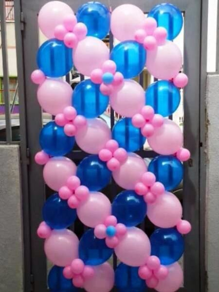 Wall Decoration Ideas With Balloons : Balloon wall walls backdrops ceiling